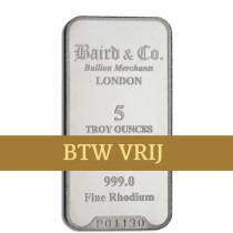 Rhodiumbaar 5 Ounce VRIJ VAN BTW | Baren | Rhodium | goud999