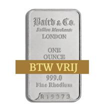 Rhodiumbaar VRIJ VAN BTW 1 Ounce | Baren | Rhodium | goud999