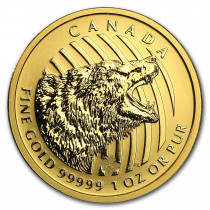 Roaring Grizzly Goud 1 Ounce 2016 | Muntzijde | goud999