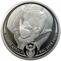 Big 5 Series - Rhino Platina 1 Ounce 2020 PROOF
