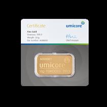 Goudbaar LBMA 50 Gram Umicore | Baar | goud999