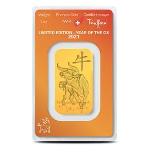 Goudbaar LBMA 1 Ounce Argor-Heraeus   Voorzijde   goud999