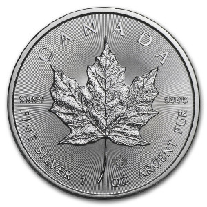 Maple Leaf Zilver 1 Ounce 2021| Muntzijde | goud999