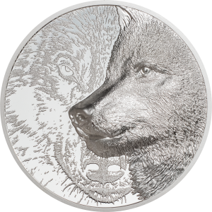 Mystic Wolf Zilver 3 Ounce 2021 |  Goud999