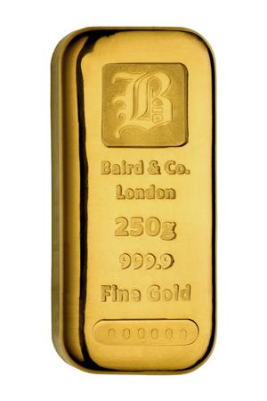 Goudbaar LBMA 250 Gram Baird | goud999