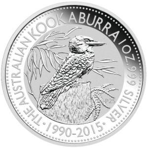 Kookaburra Zilver 1 Ounce 2015   Muntzijde   goud999