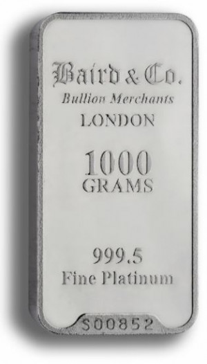 Platinabaar 1 kilogram goud999