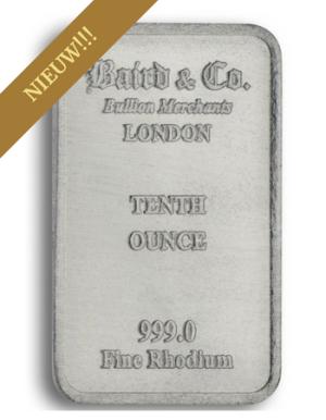 Rhodiumbaar VRIJ VAN BTW 1/10 Ounce | Baren | Rhodium | goud999