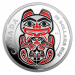 The Haida Series - The Bear Zilver 5 Ounce PROOF met ENAMEL | Munzijde | goud999
