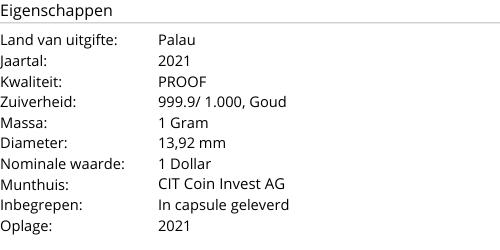 Golden Four Leaf Clover 1 Gram 2021