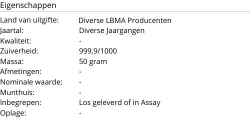 Goudbaar LBMA 50 gram
