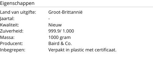 Goudbaar 1000 gram Baird